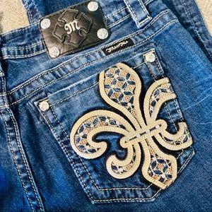 Miss Me Fleur de Lis Bootcut Jeans JP6226B
